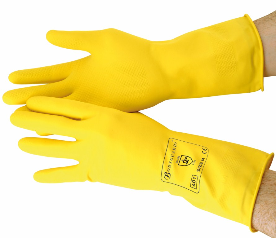 Yellow Standard Household Gloves Extra Large | Medical Supermarket