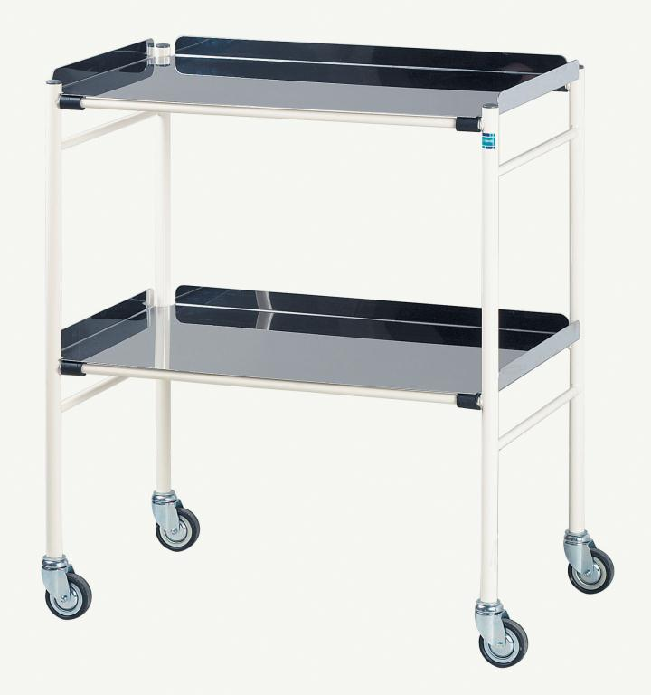 Harrogate Trolley with 2 Stainless Steel Shelves 760 x 460mm | Medical Supermarket