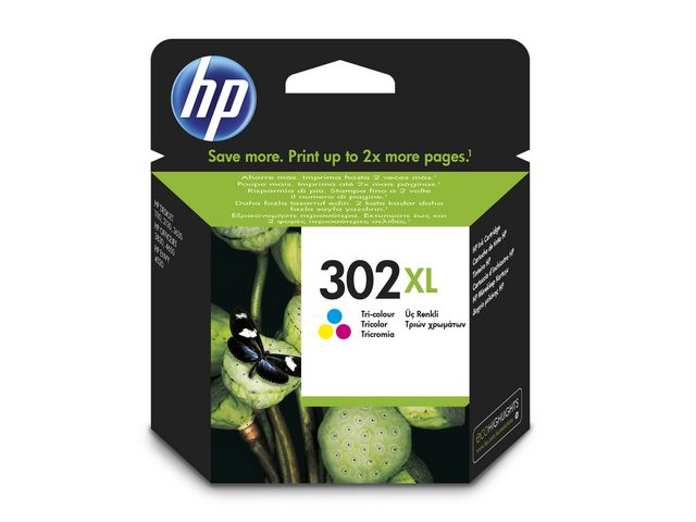 Great Value HP No.302 High Capacity Ink Cartridge Tri-Colour | Hewlett Packard | F6U67AE | Hewlett Packard