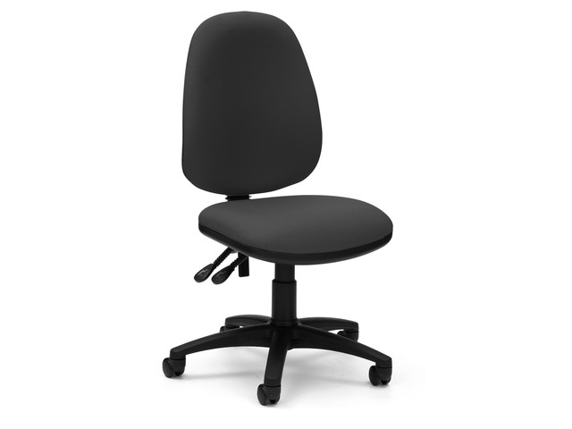 Cheap Pyramid Task Operator Chair No Arms Black Operator Chairs Re0802 Black