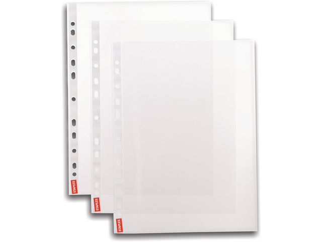 Great Value Economy Punched Pockets Glass Clear | Plastic Pockets |  |