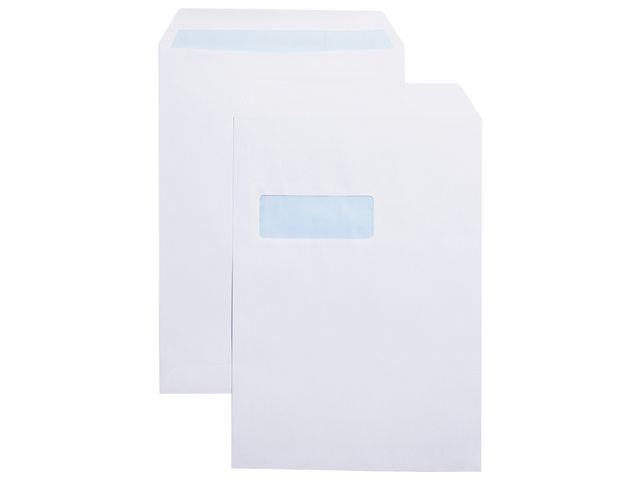 Great Value C4 White Window Envelopes 100gsm, Self Seal | White Business Envelopes |  |