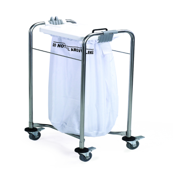 Great Value 1 Bag Laundry Trolley with Colour Coded Lids – White | Linen and Laundry Management | LCC-2000-1-SP |