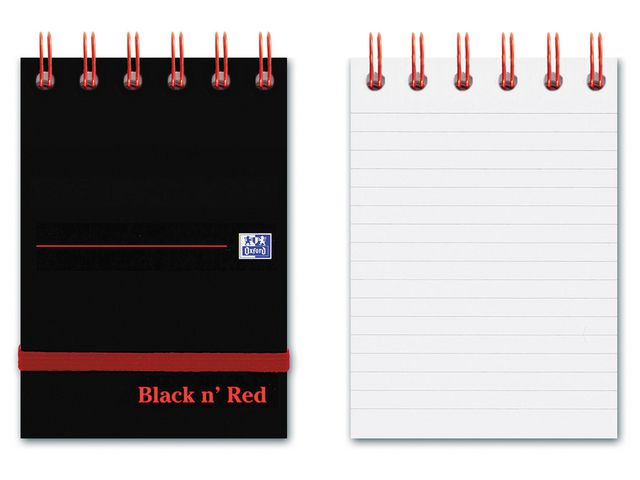 Great Value Oxford Black N' Red Twinwire Notebook A7 | Pads & Note Books | 400050435 | Oxford Black N' Red