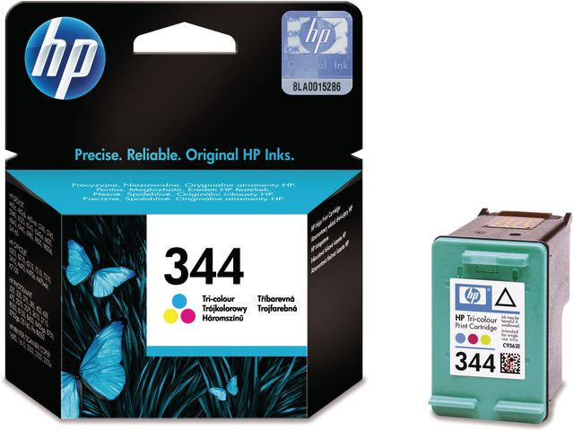 Great Value HP No.344 High Capacity Tri-Colour Ink Cartridge Single Pack | Hewlett Packard | C9363EE | Hewlett Packard