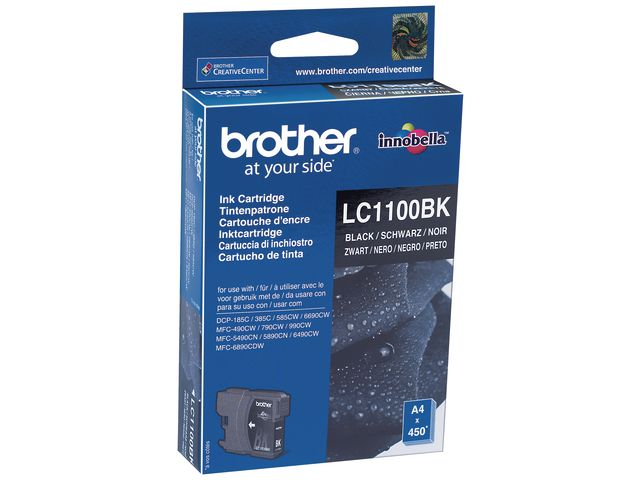 Great Value Brother LC1100 Ink Cartridge Black | Brother | LC1100BK | Brother
