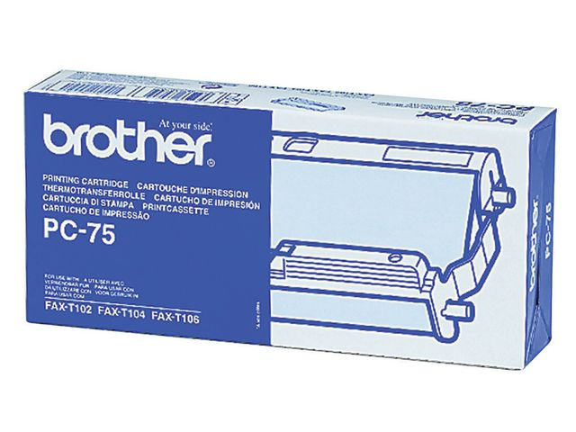 Great Value Brother PC-75 Cartridge With Ribbon | Brother | PC75 | Brother