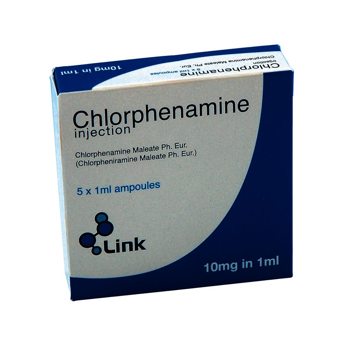 Great Value (POM) Chlorphenamine 10mg/1ml Injection 10mg/1ml Injection | A-C | PHA/CHL/003 |