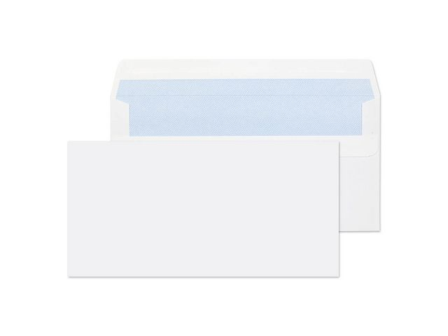 Great Value DL White Plain Envelopes 80gsm, Self Seal | White Business Envelopes |  |