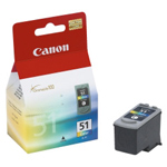 Cheap Canon CL51 High Capacity Colour Ink Cartridge | Canon | 0618B001 | Canon