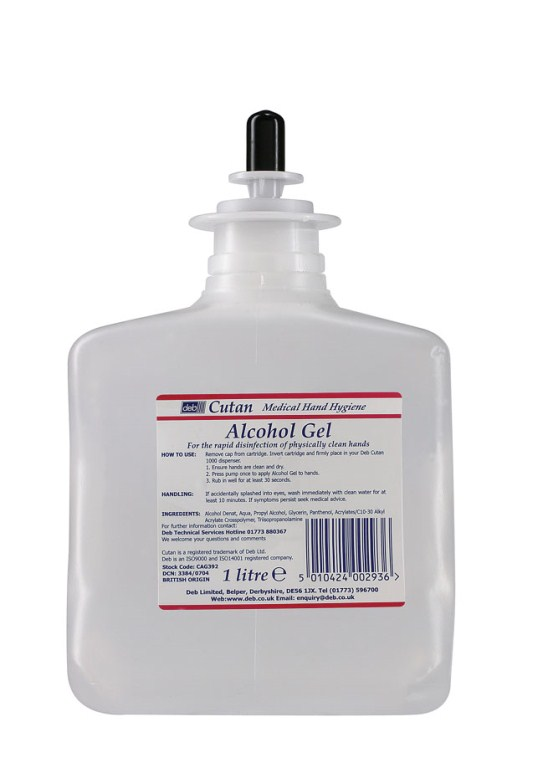 Great Value Deb Cutan Alcohol Gel Cartridge | Hand Sanitisers | CAG392 | Cutan