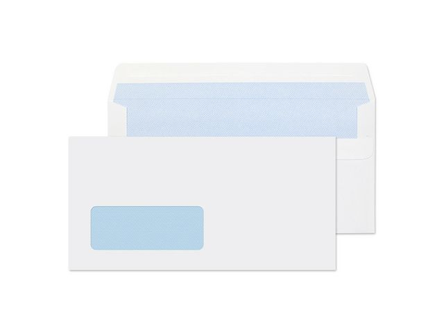 Great Value DL White Window Envelopes 80gsm, Self Seal | White Business Envelopes |  |