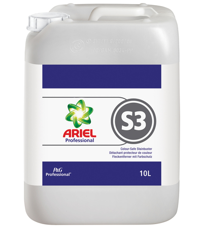 Great Value P&G Ariel Professional S3 Colour Safe Stain Buster 10L | Auto-Dosing Products | 73651 | Procter & Gamble